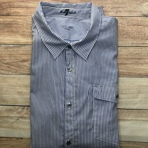7 for all Mankind XL striped button down long